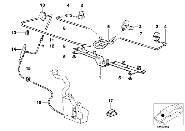 Bmw X5 Washer Fluid System Diagram on 2006 Bmw 325i Belt Diagram