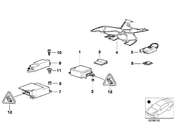 Bmw E46 Airbag Ecu Location